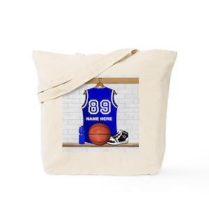de2b75a65245e Personalized Basketball Jerse Tote Bag