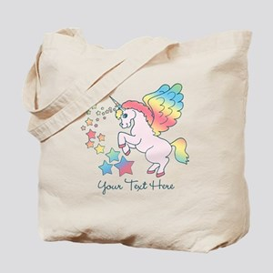Unicorn Rainbow Star Tote Bag