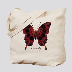 Talisman Black Butterfly Tote Bag