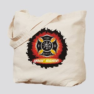 Personalized Fire and Rescue Tote Bag