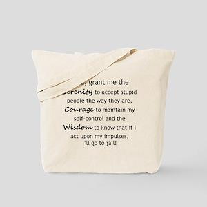 0dc20810d17 Sarcastic Serenity Prayer 02 Tote Bag