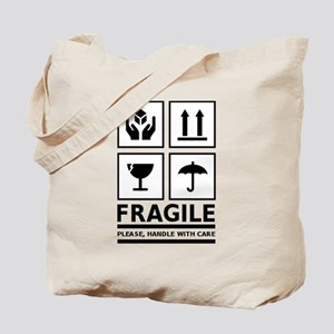 Fragile Please Handle With Care Tote Bag