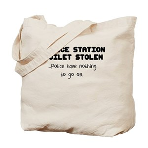 police station toilet stolen Tote Bag