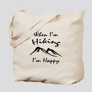 Hiking (Black) Tote Bag