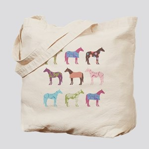 Colorful Horse Pattern Tote Bag