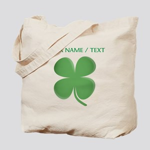 Custom Green Four Leaf Clover Tote Bag