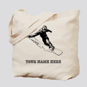Custom Downhill Snowboarder Tote Bag