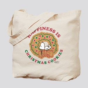Snoopy:Hapiness is Christmas Cookies Tote Bag