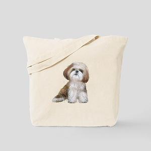 Shih Tzu (red-Wte) Tote Bag