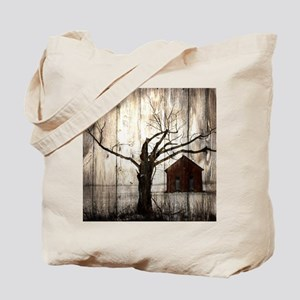 rural landscape old barn Tote Bag