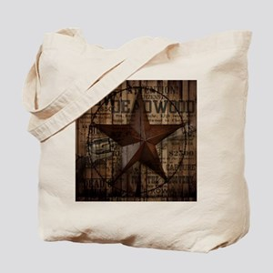 primitive  texas lone star cowboy Tote Bag