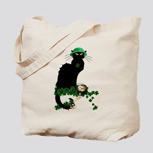 Le Chat Noir, St Patricks Day Tote Bag