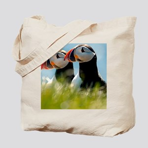 Puffin Pair 14x14 600 dpi Tote Bag