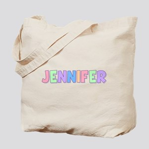 Jennifer Rainbow Pastel Tote Bag
