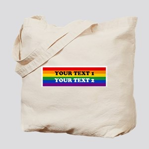 Personalize Cute Rainbow Tote Bag