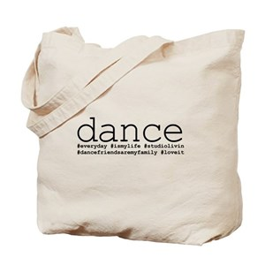 f63a3685e82d7 dance hashtags Tote Bag