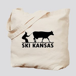 Ski Kansas Tote Bag