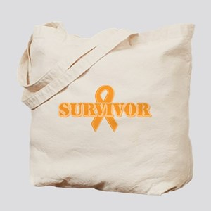 Orange Ribbon Survivor Tote Bag
