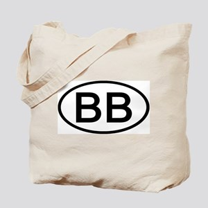 BB - Initial Oval Tote Bag