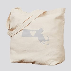Heart Massachusetts Tote Bag