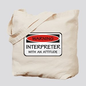 Attitude Interpreter Tote Bag