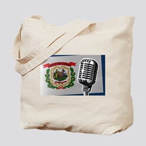 West Virginia Flag And Microphone Tote Bag