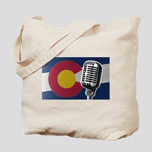 Colorado Flag And Microphone Tote Bag