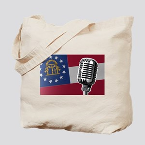 Georgia Flag And Microphone Tote Bag