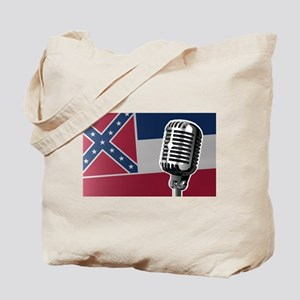 Mississippi Flag And Microphone Tote Bag