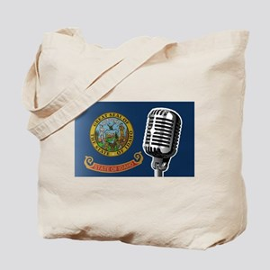 Oregon Flag And Microphone Tote Bag