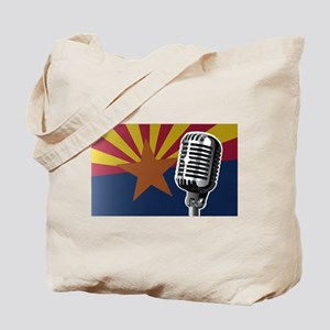 Arizona Flag And Microphone Tote Bag