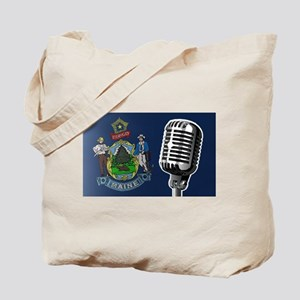 Maine Flag And Microphone Tote Bag