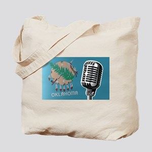 Oklahoma Flag And Microphone Tote Bag
