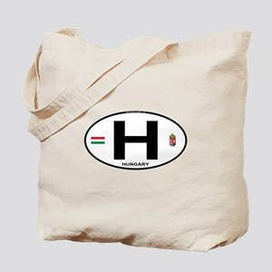 Hungary Euro Oval Tote Bag