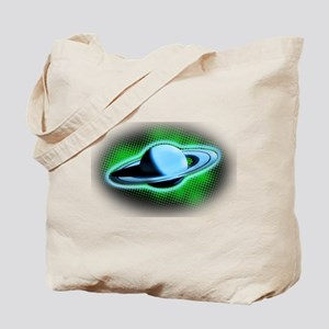 Flying Saturn Tote Bag