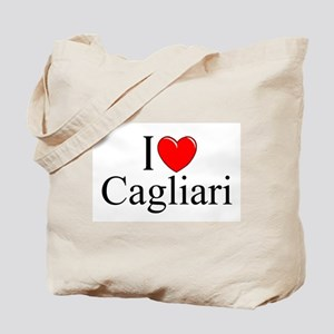 """I Love (Heart) Cagliari"" Tote Bag"