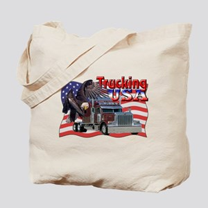 Trucking USA Tote Bag
