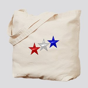 Three Shiny Stars Tote Bag