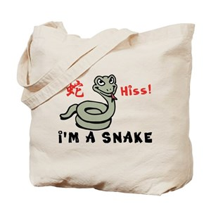 Funny Year of The Snake Tote Bag