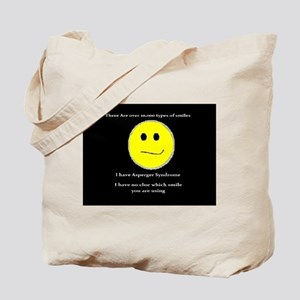 aspie smile Tote Bag