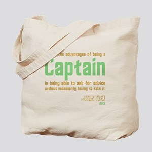 Captain Kirk Quote Tote Bag