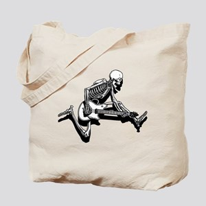 Skeleton Guitarist Jump Tote Bag