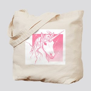 1 Pink Unicorn Tote Bag