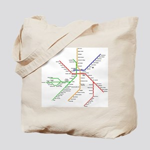 Boston Rapid Transit Map Subway Metro Tote Bag