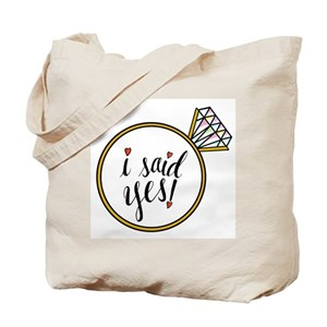 be8daca69 Engagement Canvas Tote Bags - CafePress