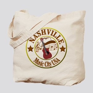 Nashville Music City USA-LT Tote Bag