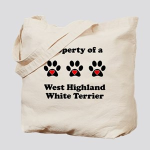 Property Of A West Highland White Terrier Tote Bag