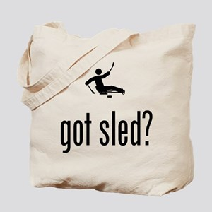 Sled Hockey Tote Bag