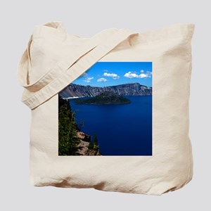 (4) Crater Lake  Wizard Island Tote Bag