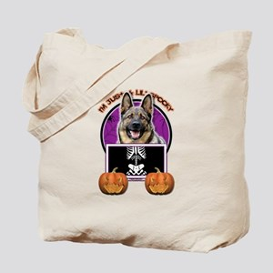 Just a Lil Spooky Shepherd Tote Bag